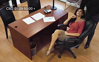Sexy MILF secretly films herself having sex with her fixed devoted to colleague