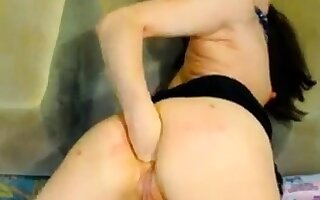 Hot Russian matured fisting on webcam