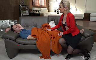 Young man has no choice but fro fuck his sex-starved stepmom Di Devi