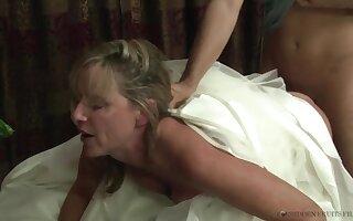 Stepmother Jodi West Fucks Son In Her Wedding Dress - JodiWest