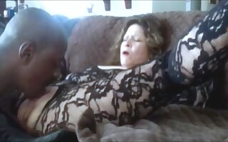 Hot grandma squirting while get clit splintered and fingered