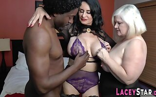 Big-Titted granny riding outrageous knob Interracial