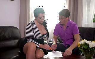 Mesmerizing busty brunette MILF Anissa Jolie is unavailable great doggy
