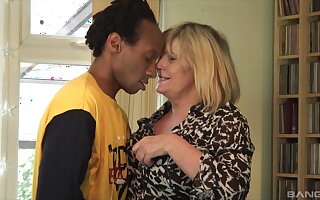 Dirty granny wanted to be fucked apart from a younger black gentleman