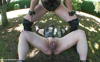 Outdoor Pissing Pastime With Male Slave - TacAmateurs